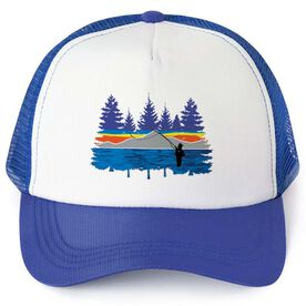 Fly Fishing Trucker Hat - Pond Fishing In The Woods
