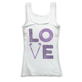 Field Hockey Vintage Fitted Tank Top - Field Hockey Love