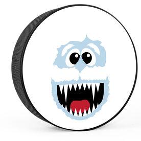 Yeti Face Hockey Puck