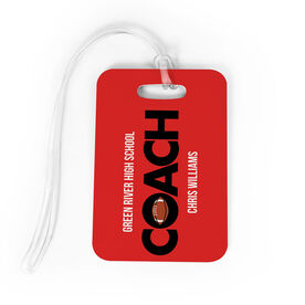 Football Bag/Luggage Tag - Personalized Coach