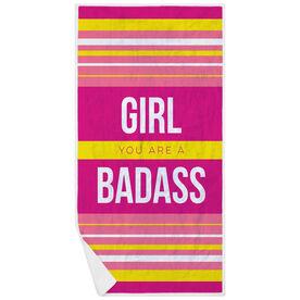 Running Premium Beach Towel - Girl You Are a Badass