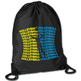 Volleyball Sport Pack Cinch Sack All Volleyball