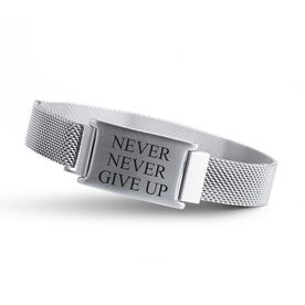 Adjustable Stainless Steel Magnetic Bracelet - Never Never Give Up