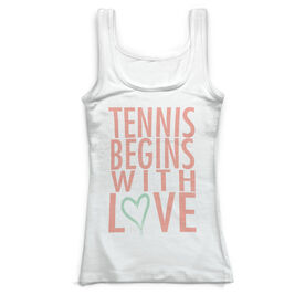 Tennis Vintage Fitted Tank Top - Tennis Begins With Love