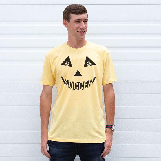 Soccer Short Sleeve Tee - Soccer Pumpkin Face