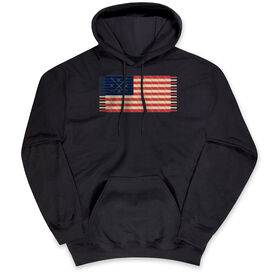 Hockey Standard Sweatshirt Hockey Laces Flag
