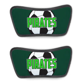 Soccer Repwell™ Sandal Straps - Soccer Ball with Text