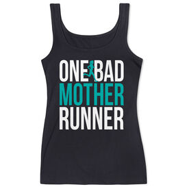 Running Women's Athletic Tank Top - One Bad Mother Runner (Bold)