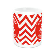 Cheerleading Coffee Mug Personalized Thanks Coach with Bow