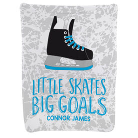 Hockey Baby Blanket - Little Skates Big Goals