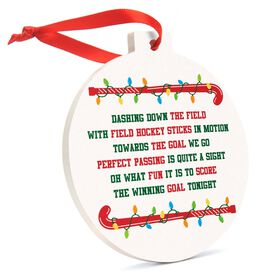 Field Hockey Round Ceramic Ornament - Jingle All the Way