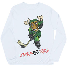 Seams Wild Hockey Long Sleeve Tech Tee - Chantler