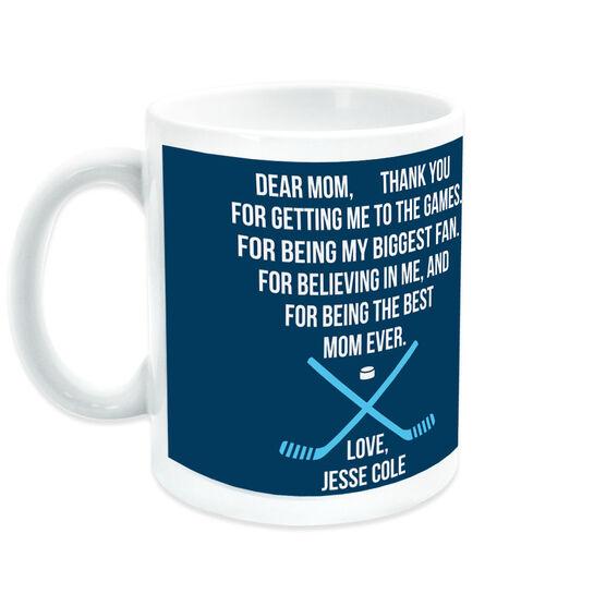Hockey Coffee Mug - Dear Mom Heart