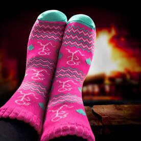 Running Slipper Socks with Sherpa Lining