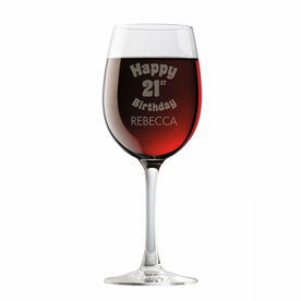 Personalized Wine Glass - Legally Happy Birthday