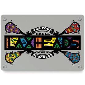 Guys Lacrosse Metal Wall Art Panel - Laxheads Apocalax