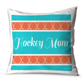 Hockey Throw Pillow Hockey Mom Stripe