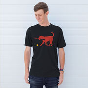 Softball Tshirt Short Sleeve Pitch The Softball Dog