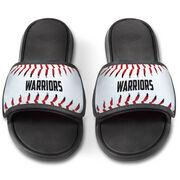 Baseball Repwell® Slide Sandals - Personalized Baseball Stitches