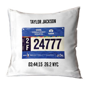 Running Throw Pillow - Personalized Single Bib