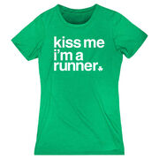 Running Women's Everyday Tee - Kiss Me I am a Runner Saying