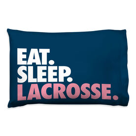 Girls Lacrosse Pillowcase - Eat Sleep Lacrosse