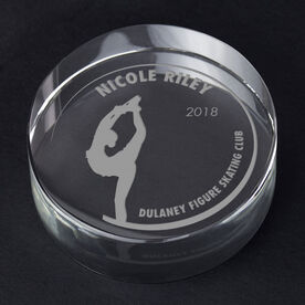 Figure Skating Personalized Engraved Crystal Gift - Customized Biellmann