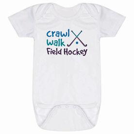 Field Hockey Baby One-Piece - Crawl Walk Field Hockey