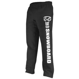 Snowboarding Fleece Sweatpants Eat Sleep Snowboard