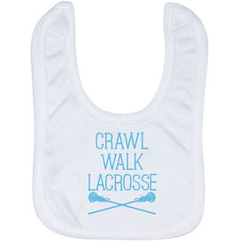 Girls Lacrosse Baby Bib - Crawl Walk Lacrosse