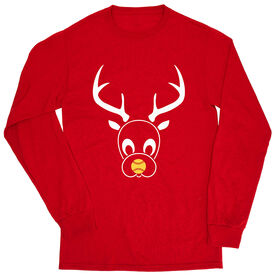 Softball Tshirt Long Sleeve - Reindeer