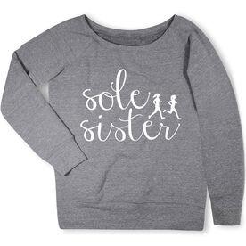 Running Fleece Wide Neck Sweatshirt - Sole Sister Script