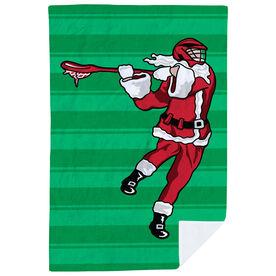 Guys Lacrosse Premium Blanket - Santa Laxer Stripes