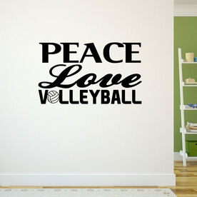 Volleyball Wall Decal Peace Love Volleyball