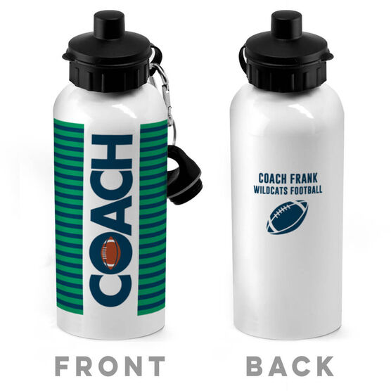 Football 20 oz. Stainless Steel Water Bottle - Coach