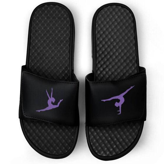 Gymnastics Black Slide Sandals - Gymnastics Silhouette