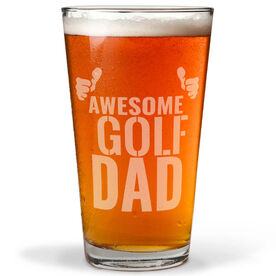 16 oz. Beer Pint Glass Awesome Golf Dad