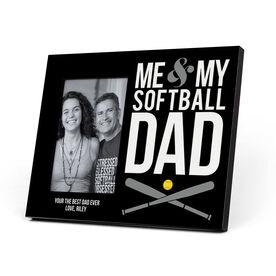 Softball Photo Frame - Me & My Softball Dad