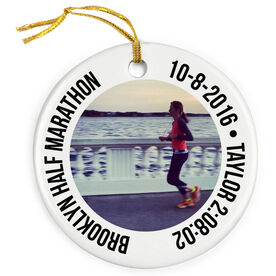 Running Porcelain Ornament Custom Running Photo