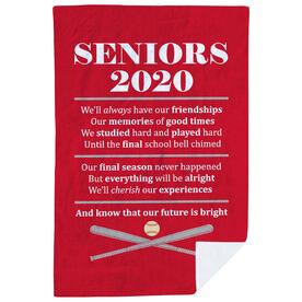 Baseball Premium Blanket - Seniors 2020 Our Future Is Bright