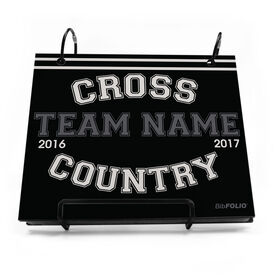 BibFOLIO® Race Bib Album - Cross Country Team