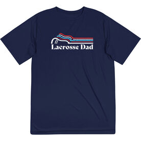 Guys Lacrosse Short Sleeve Performance Tee - Lacrosse Dad Sticks