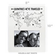 Photo Frame - Countries We've Traveled Outline