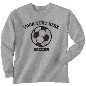 Custom Soccer T-Shirt Long Sleeve