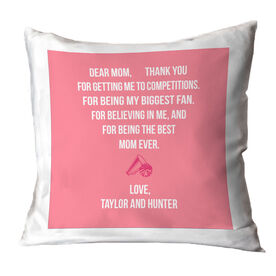 Cheerleading Throw Pillow - Dear Mom Heart