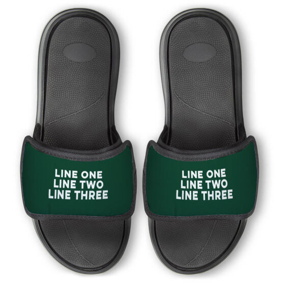 Personalized Repwell® Slide Sandals - Your Text