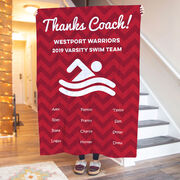Swimming Premium Blanket - Personalized Thanks Coach Chevron