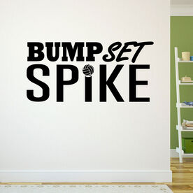 Volleyball Wall Decal Bump Set Spike