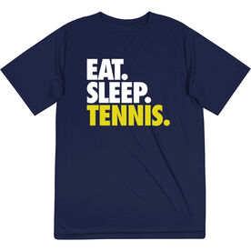 Tennis Short Sleeve Performance Tee - Eat. Sleep. Tennis.