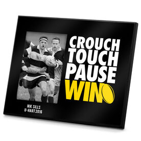 Rugby Photo Frame Crouch Touch Pause Win